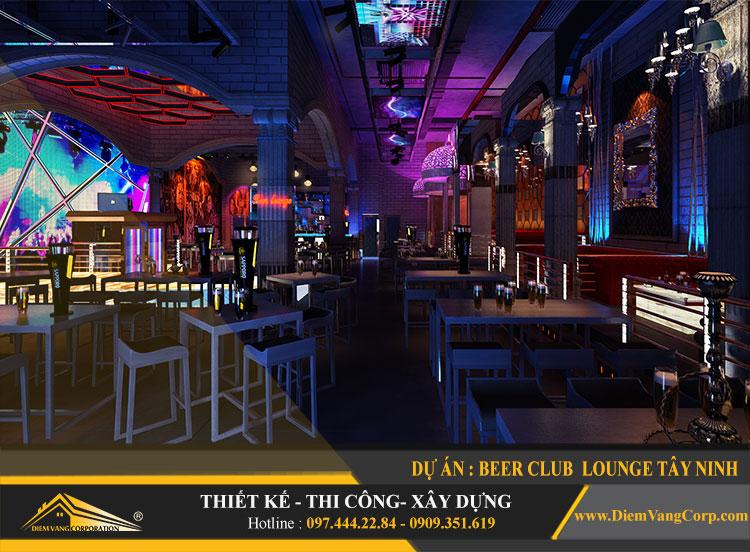Hình ảnh thực tế thi công công trình Lounge Beer Club Tây Ninh