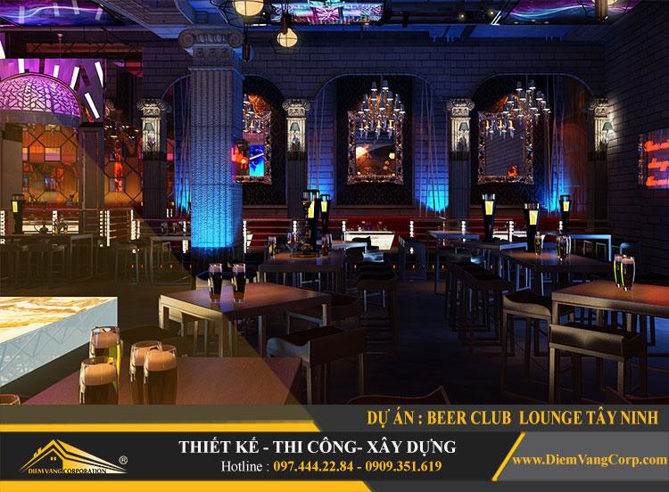 thi công công trình Lounge Beer Club Tây Ninh 1