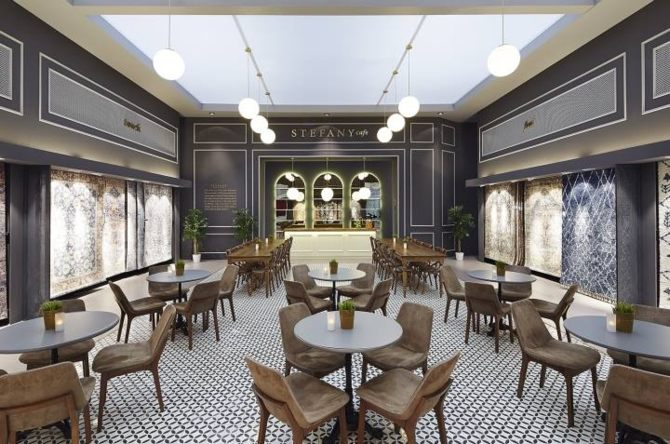 mẫu thiết kế quán Cafe sự kết hợp hài hòa giữa phong cách hiện đại và cổ điển: