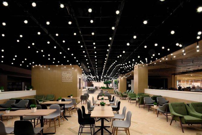 Thiết kế nội thất,Coffee Shop,lung linh với hiệu ứng đèn 1