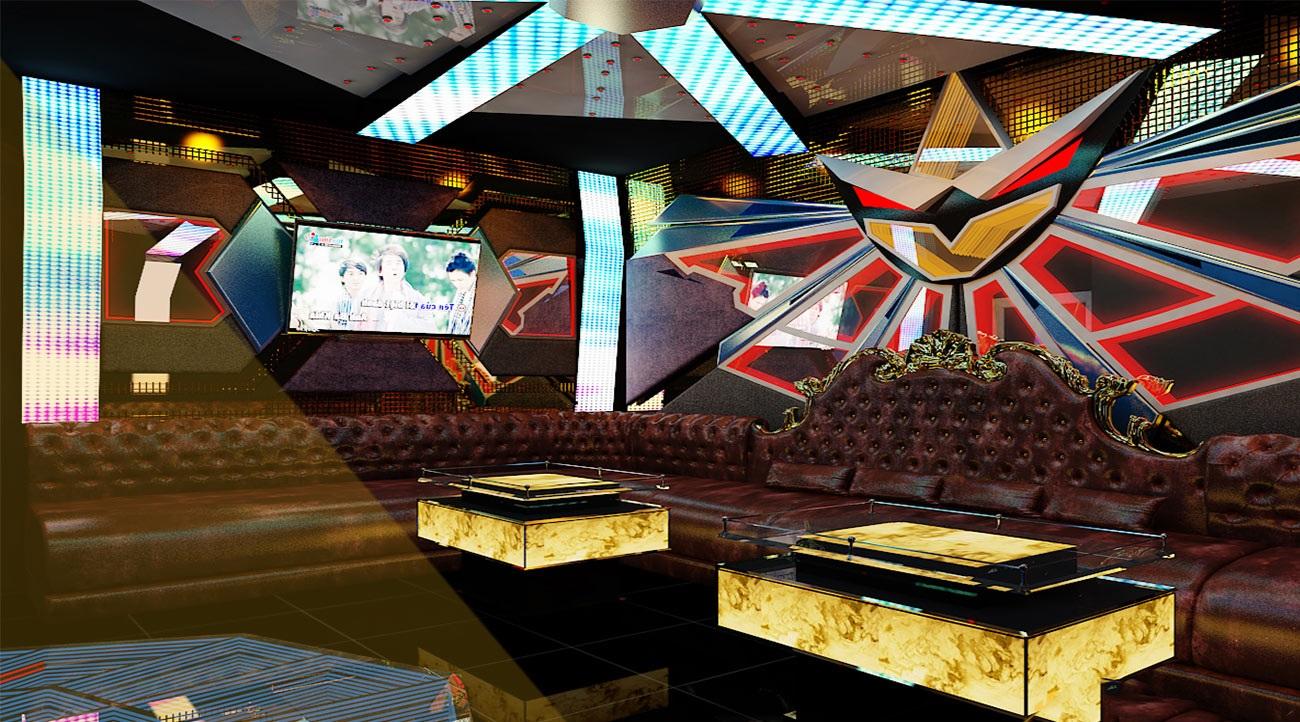 Hình ảnh thiết kế phòng karaoke 3D 1