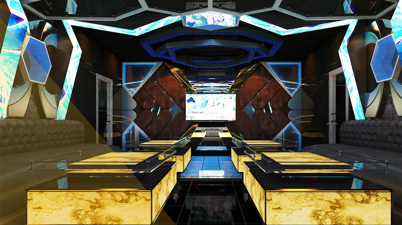 Hình ảnh thiết kế phòng karaoke 3D 2