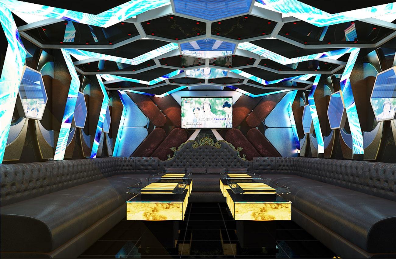 Hình ảnh thiết kế phòng karaoke 3D 3