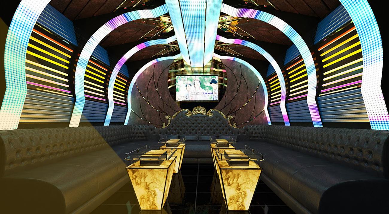 Hình ảnh thiết kế phòng karaoke 3D 4