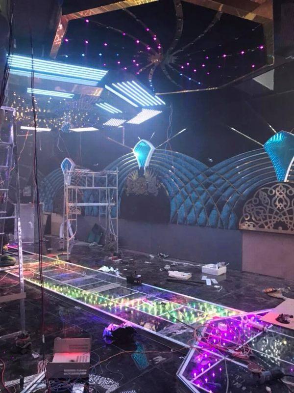 Hình ảnh thi công công trình phòng hát karaoke thực tế 9