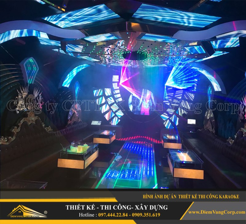Phòng karaoke Vip,Thiết kế phòng karaoke VIP Led hiện đại 10