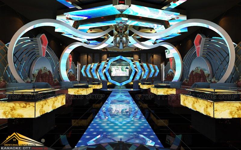 Phòng karaoke Vip,Thiết kế phòng karaoke VIP Led hiện đại 2
