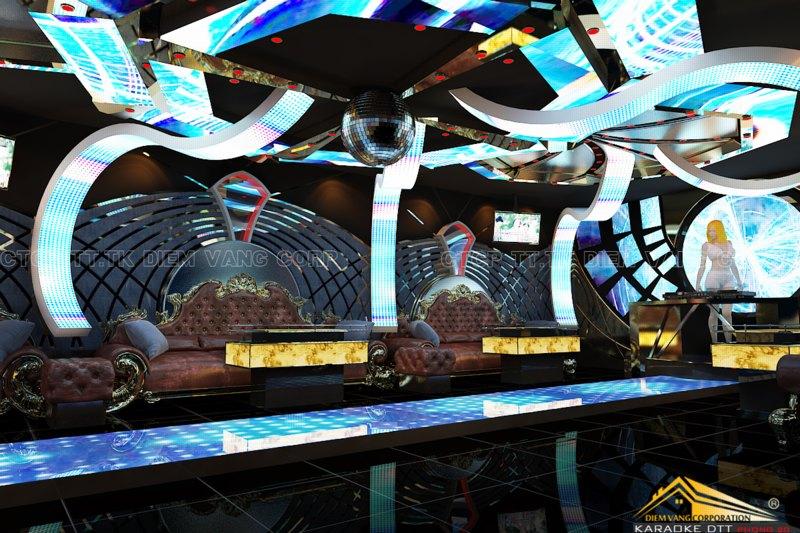 Phòng karaoke Vip,Thiết kế phòng karaoke VIP Led hiện đại 3
