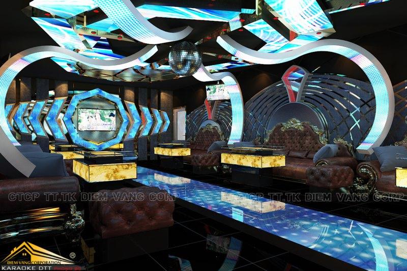 Phòng karaoke Vip,Thiết kế phòng karaoke VIP Led hiện đại 4