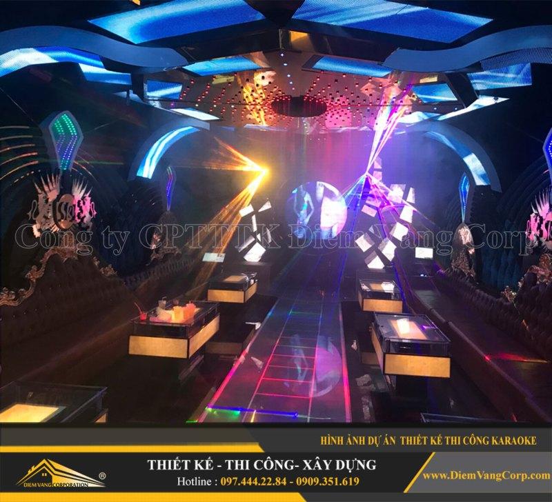 Phòng karaoke Vip,Thiết kế phòng karaoke VIP Led hiện đại 9